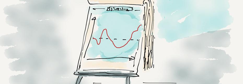 Zeichnung eines Flipcharts