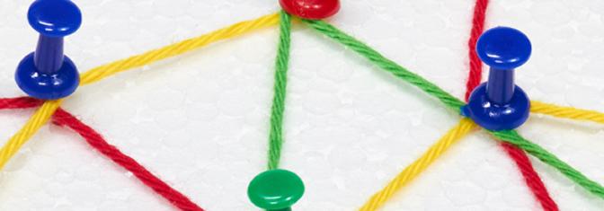 Netzwerk aus Fäden und Nadeln