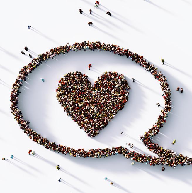 Herz aus Menschen